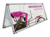 Monsoon Outdoor Sign Stand with Single-Sided Graphic