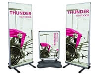 Fabric & Vinyl Outdoor Banner Stands and Sidewalk Signs