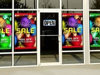 Custom Window Signs & Perforated Window Graphics