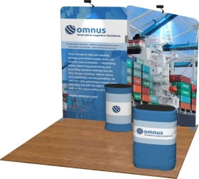 Snap-Tube Layers™ 10' Dye-Sub Tension Fabric Display Package