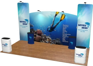 Fabric FACTORY™ Snap-Tube Layers™ 20ft. Dye-Sub Tension Fabric Graphic Display Package