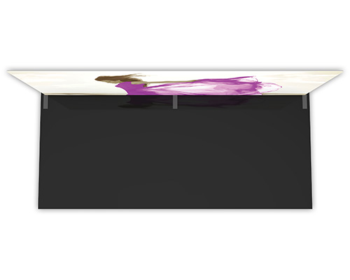 20' Flat Snap-Tube Pro™ Event Wall (Top View)