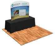 6' Fabric Factory™ Snap-Tube Curve Fabric Tabletop Display Wall