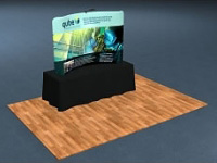 8ft. Snap-Tube™ Curved Tabletop Tension Fabric Display with Lighting