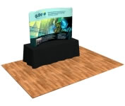 "8"" Fabric Factory™ Snap-Tube Curve Fabric Tabletop Display Wall"