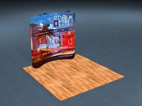 8ft. Snap-Tube™ Curved Tension Fabric Display with Lighting