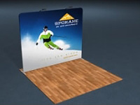 10ft. Snap-Tube™ Flat Tension Fabric Display with Lighting