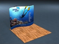 10ft. Snap-Tube™ S-Curve Tension Fabric Display with Lighting