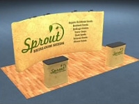 20ft. Snap-Tube™ Curved Tension Fabric Display with Lighting and Case/Counter