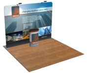 beautifulDISPLAYS Snap-Tube Layers™ 10' Exhibit Package #1005