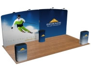 beautifulDISPLAYS Snap-Tube Layers™ 20' Exhibit Package #2004