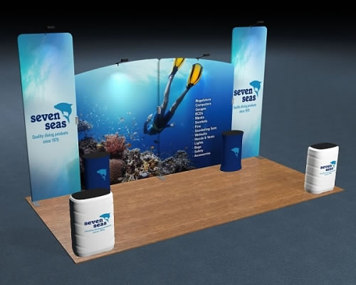 Snap-Tube Layers™ 20' Exhibit Package #2007