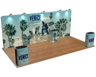 beautifulDISPLAYS Snap-Tube Layers™ 20' Exhibit Package #2008