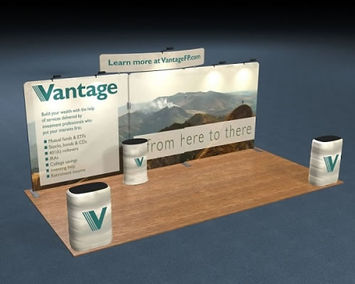 Snap-Tube Layers™ 20' Exhibit Package #2011 with Curved Header