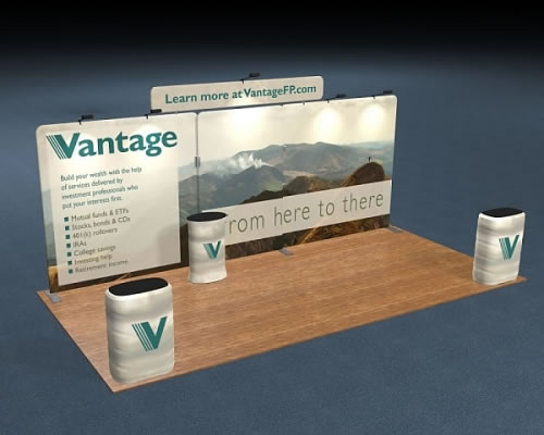 Snap-Tube Layers™ 20' Exhibit Package #2011 with Flat Header