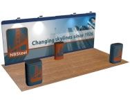 beautifulDISPLAYS Snap-Tube Layers™ 20' Exhibit Package #2012