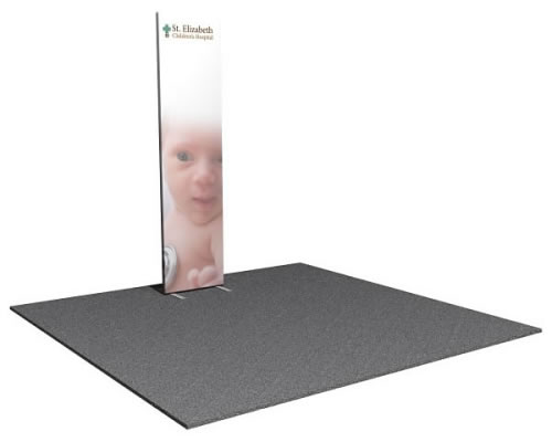 2' x 8' Snap-Tube Professional™ Flat Fabric Display