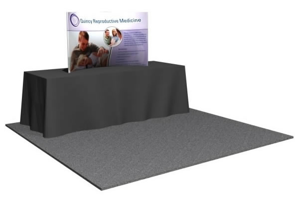6' x 3' Snap-Tube Professional™ C-Curve Tension Fabric Tabletop Display