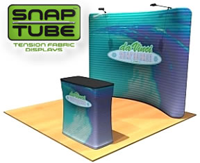 Fabric FACTORY™ 'Snap-Tube' Dye-Sub Fabric Graphic Display (with optional light kit and counter)