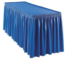 "SnapDrape Shirred Fitted Set Cover for 6' x 30"" Table"