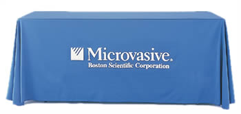 logo tablecloths fabric table covers beautiful displays rh beautifuldisplays com Table Covers for Events table covers with company logo