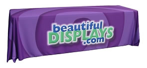 Full Color Dye-Sub Printed Table Covers from BeautifulDisplays' Fabric FACTORY™