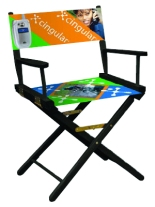 "18"" Seat Height Director Chair with Dye-Sub Printed Seat or Back"