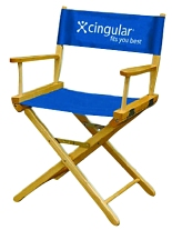 "30"" Seat Height Two Color Logo Imprinted Director Chair"