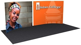 20' C-Curve Snap-Tube Pro™ Event Wall Fabric Display