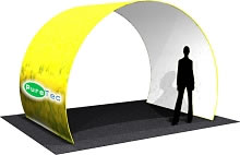 "11.5' x 8.5' x 92"" Arch Room w/ Single Sided Dye-Sub Printed Fabric Cover"