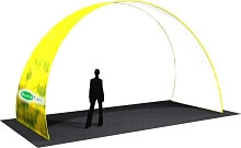 "19.5' x 11.5' x 96"" Large Arch w/ Single Sided Dye-Sub Fabric Cover"