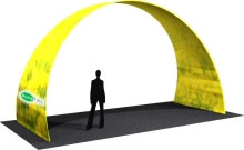 "19.5' x 11.5' x 96"" Large Arch w/ Double Sided Dye-Sub Fabric Cover"