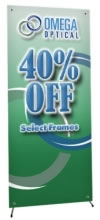 "Great Buy 31.5"" x 70.75"" Economy X-Banner Stand with Lay-Flat Blockout Graphic"