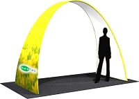 "9.5' x 7'8"" x 58"" Small Arch w/ One Sided Dye-Sub Fabric Cover"