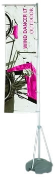 13.5' Wind Dancer LT Outdoor Banner Stand with Single Sided Graphic