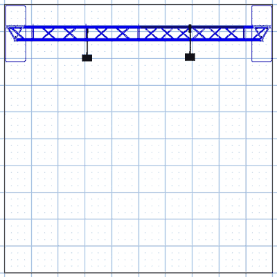 BA1 10' x 10' Truss Arch Kit Floor Plan