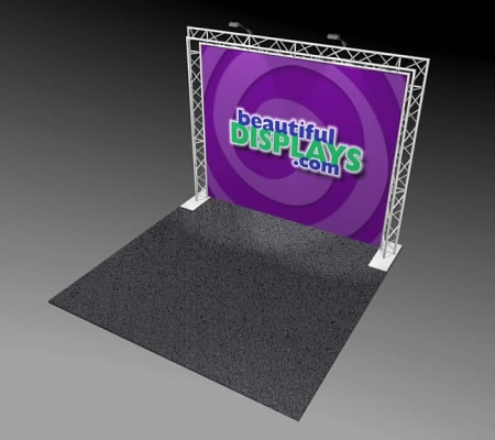 BA1 10' x 10' Truss Arch Kit (as shown with cases, graphic & lights)