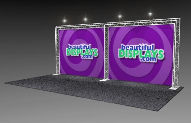 BA1 10' x 20' Truss Arch Kit (as shown with cases, graphics & lights)