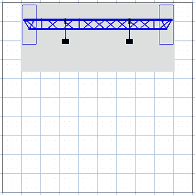 BA1-TT 8' Tabletop Truss Arch Kit Floor Plan