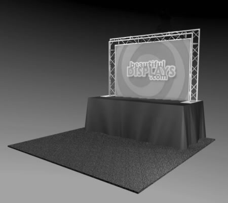 BA1-TT 8' Tabletop Truss Arch Kit (truss hardware & case only - fabric graphic not included)