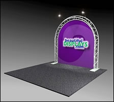 BA3 8' Truss Arch Kit in UPS Shippable Case with Graphic and Lights
