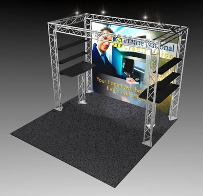 BK-102 10' x 10' Truss Exhibit and Accessory Package