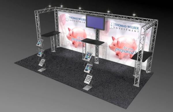 BK-111 10' x 20' Truss Exhibit and Accessory Package