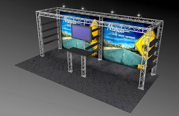 BK-121 10' x 20' Truss Exhibit and Accessory Package