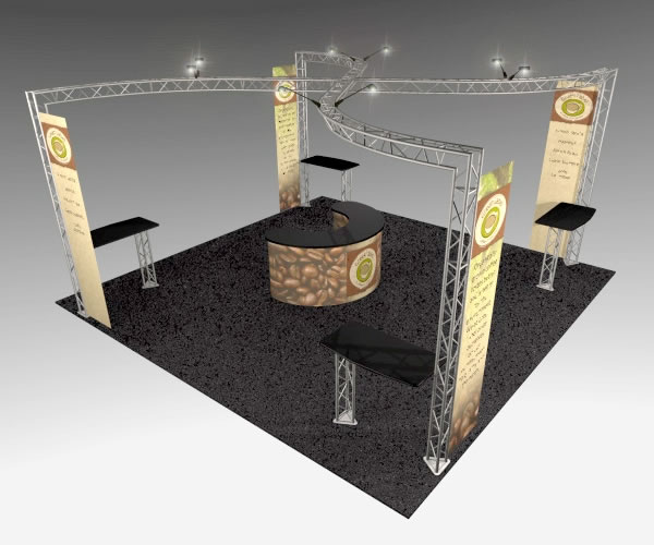 BK-132 20' x 20' Truss Exhibit and Accessory Package
