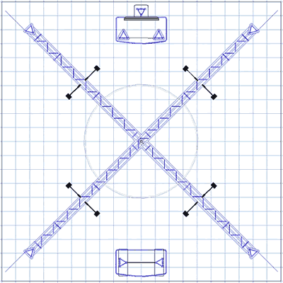 BK-141 20' x 20' Truss Exhibit and Accessory Package Floor Plan