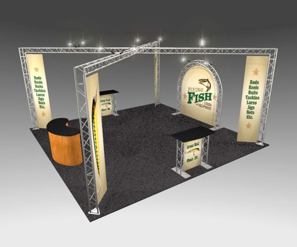 BK-142 20' x 20' Truss Exhibit and Accessory Package