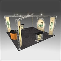 BeautifulDisplays BK-142 20' x 20' Aluminum Truss Display and Accessory Package