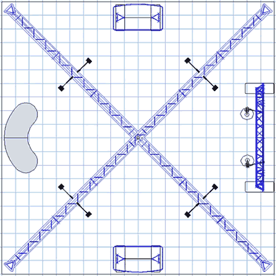 BK-142 20' x 20' Truss Exhibit and Accessory Package Floor Plan