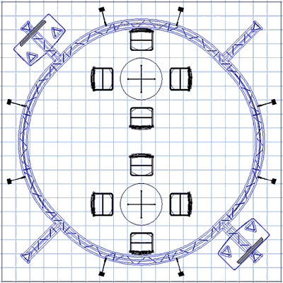 BK-152 20' x 20' Truss Exhibit and Accessory Package Floor Plan